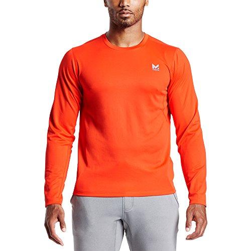 Mission Men's VaporActive Alpha Long Sleeve Athletic Shirt, Cherry Tomato, Large