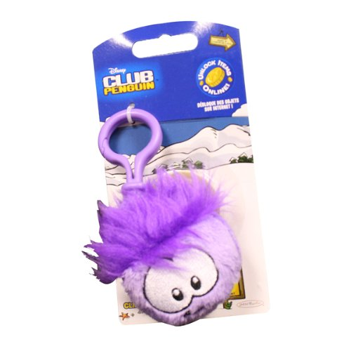 Disney Club Penguin 2 Inch Plush Puffle Clip On Purple [Toy] ()