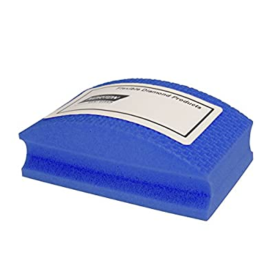 Norton HP1800 Conventional Curved Nonwoven Abrasive Hand Pad, Blue Color, Diamond, Grit 1800 (Pack of 1)