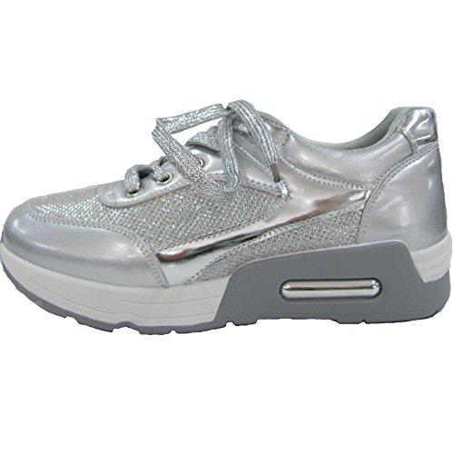 Queentina Damen Sneakers 39 Silber