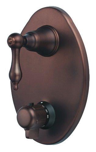 Danze D560140RBT Fairmont Two Handle 1/2-Inch Thermostatic Shower Valve Trim Kit, Valve Not Included, Oil Rubbed Bronze Danze