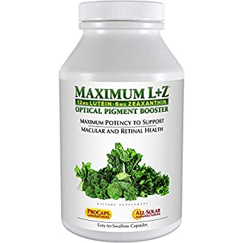 Image of Health and Household Andrew Lessman Maximum L+Z 240 Softgels - 12mg Lutein, 6mg Zeaxanthin, Key Nutrients to Support Eye and Brain Health, and Promote Healthy Vision. No Additives. Easy to Swallow Softgels