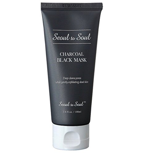 Seoul to Soul Charcoal Black Mask – 10 Minute Acne Eraser Mask (3.4 fl oz / 90 Day) (Acne Eraser)