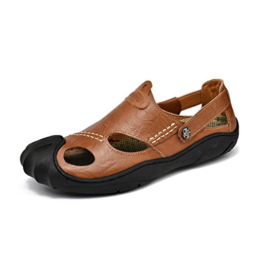 Sandali Dimensioni Scarpe all'Aria Grandi Moda Aperta di Sandali collisione Casual Brown Spiaggia Casual Baotou Sport da Scarpe Anti Uomo Sandali 7qEnwXZ7