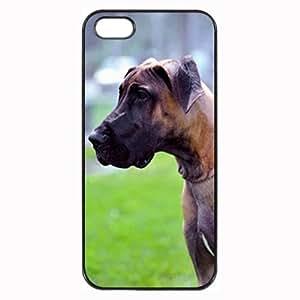 Custom GREAT DANE DOG COVER CASE IPHONE 5 5S MOBILE PHONE by icecream design