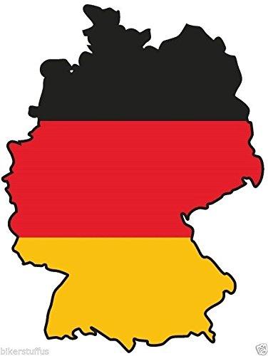 Deutschland Germany Silhouette MAP Flag Bumper Sticker Hard HAT Sticker Laptop Sticker Toolbox Sticker ()