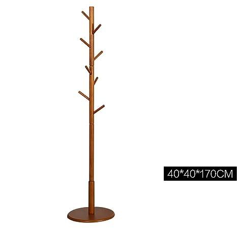 Amazon.com: YWYMJ Perchero de madera maciza con 8 ganchos ...