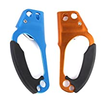 1 Pair Right and Left Hand Rock Climbing Hand Ascenders For 8-12mm Rope