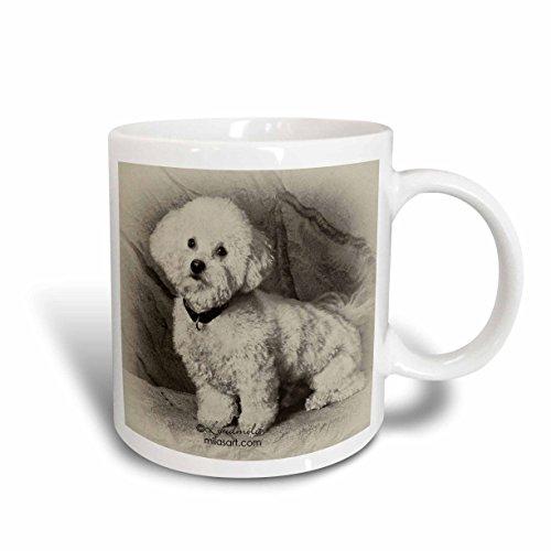 (3dRose 4625_2 Bichon Frise-Ceramic Mug 15 oz Multicolored)
