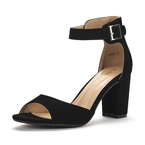 Image of DREAM PAIRS Women's HHER Low Heel Pump Sandals