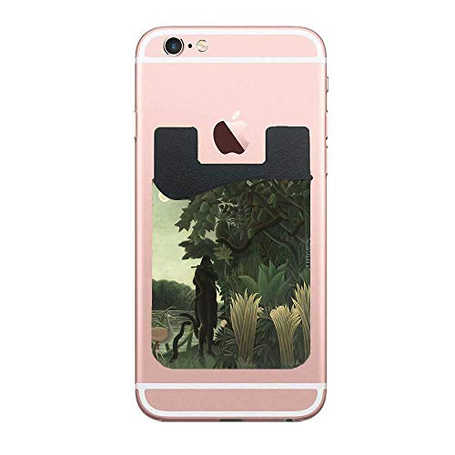 Cusomcardphone Henri Rousseau - The Snake Charmer 1907 Premium PU Phone Card Holder Stick On Wallet for iPhone and Android Smartphones Kangaroo