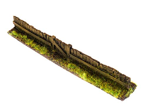 (wws Wooden Fence Section with Gate Pack of 3 - Dioramas, Layouts, Terrain,)