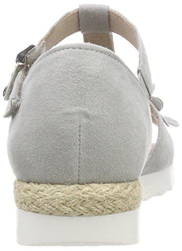 Gabor Comfort Sport, Sandali con Cinturino Alla Caviglia Donna Grigio (Light Grey Jute)