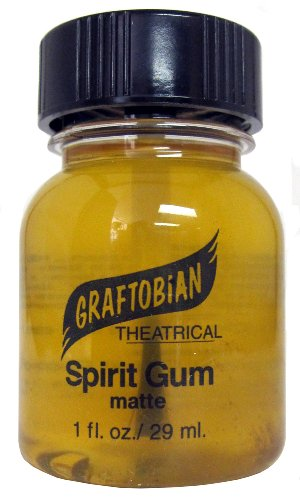 Price comparison product image Graftobian Spirit Gum Theatrical Adhesive, 1.0 Ounce