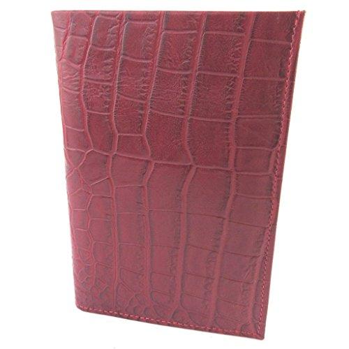 Wallet Croco Wallet Pelle 'frandi'rosso Carte Pelle Hz7xS7qdwv