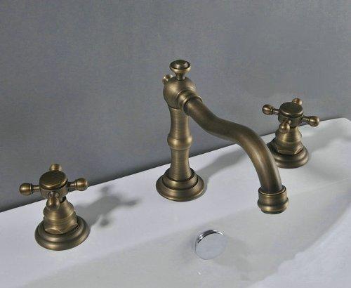 Antique Brass 3 Holes Bath Basin or Bathtub Faucet Mixer Tap Ys-8677