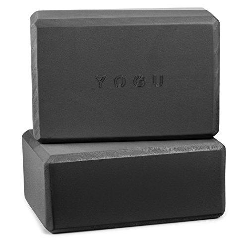 YOGU Yoga Blocks Set of 1 2 Black, 9x6x4(2 pcs)