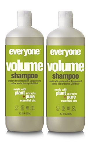 (EO Everyone Hair Sulfate Free Volume Shampoo (Pack of 2) with Coconut Fruit Extract, Peppermint Oil, Rosemary Leaf and Orange Peel, 20 fl. oz. )