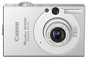 Canon PowerShot SD1000 7.1MP Digital Elph Camera with 3x Optical Zoom (Silver) (OLD MODEL)