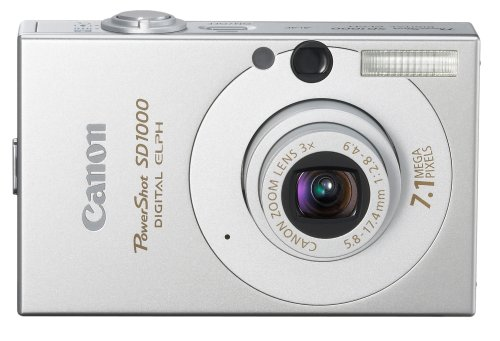 Canon PowerShot SD1000 7.1MP Digital Elph Camera with 3x Optical Zoom (Silver) (OLD MODEL) Canon Powershot Sd1100 Digital Camera