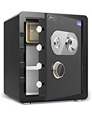 Safes, Mechanical Lock Safes Office 45cm All Steel Into The Wall Bedside Manual Safe The Wardrobe Anti-Theft Safe with Key Cabinet Safes Wall Safes