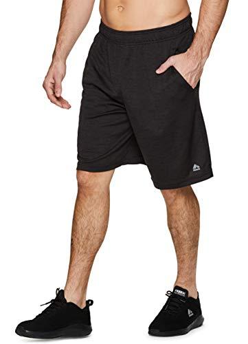 RBX Active Men's Mesh Athletic Performance Drawstring Training Short SP19 Black L