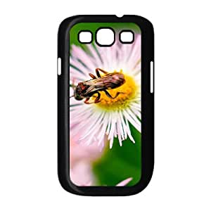 Samsung Galaxy S3 Cases Nature Bug on Flower Ilike, Samsung Galaxy S3 Cases Bug for Teen Girls, [Black]