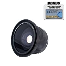 .42x HD Super Wide Angle Panoramic Macro Fisheye Lens For The Canon EOS Rebel T2i (EOS 550D) Digital SLR Camera Which Has Any Of These (18-55mm, 75-300mm, 50mm 1.4 , 55-200) Canon Lenses