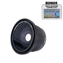 .42x HD Super Wide Angle Panoramic Macro Fisheye Lens For The Nikon D3X, D3, D2Xs, D2Hs, D2X, D2H, D3, D40, D40X, D50, D60, D70, D80, D90, D100, D200, D300, D700 Digital SLR Cameras Which Have The Nikon 28-80mm Lens