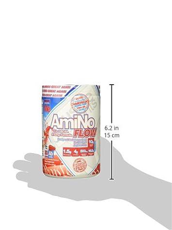 Amino Flow BCAA Powder – 2-In-1 Amino Nitric Oxide Supplement, America Bob Pop, 30 Serving
