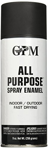 True Value AGP4-AER Flat Black All Purpose Aerosol Interior/Exterior Spray Paint 9 Ounce (Paint Furniture Wood Outdoor)