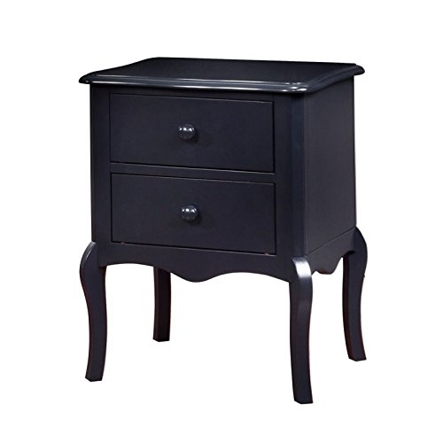 Furniture of America Torrez 2 Drawer Nightstand in Blue by Furniture of America