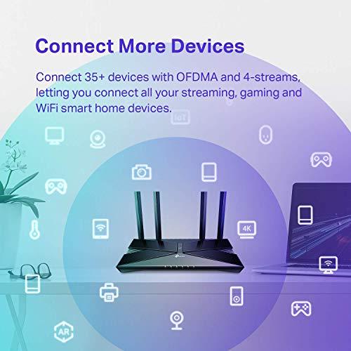 TP-Link WiFi 6 Router AX1800 Smart WiFi Router (Archer AX20) – 802.11ax Router, Dual Band Gigabit Router, Parental…