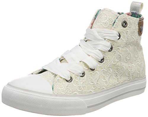 Alto Donna Emroidery Cap Aus Bianco Preussen white Collo Hedi Sneaker Toe All Fritzi Over ZTvqR
