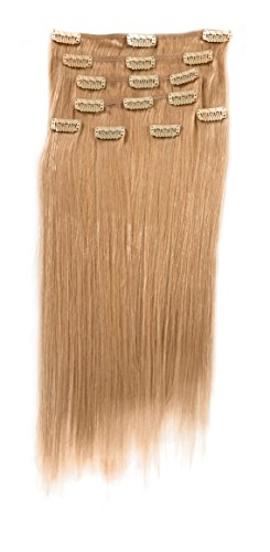 a0201ca7c Donna Bella Full Head Human Clip-In Hair Extensions 20