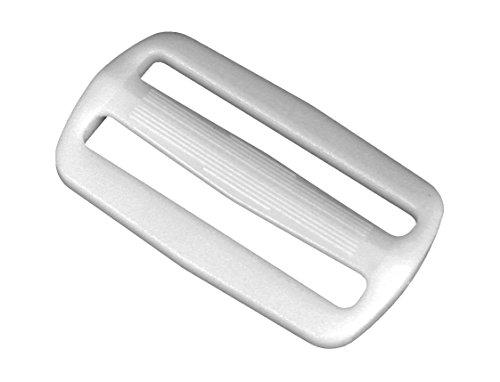 (Strapworks White Plastic Tri-Glide Slide - for Bag Straps, Rifle Slings, Dog Collars - 2 Inch, 10 Pack)