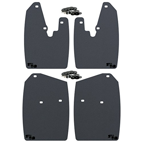 RokBlokz Mud Flaps for Dodge Ram. Fits 2010 + 1500 2500 3500. Dodge Mud Guards Come in 2 Sizes for Stock or Lifted/Oversize Tires. (Large (V2), Black)