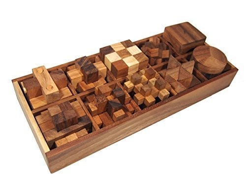 Wood Puzzles Brain Teasers Wooden product image