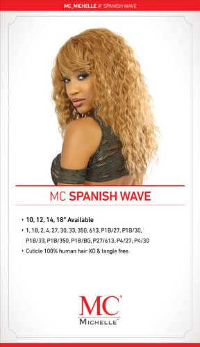 Michelle Human Hair Blend Weave Spanish Wave Curl (