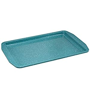 Paula Deen 46653 Speckle Nonstick Bakeware Set with Baking Pan, Cake Pans and Cookie Sheet / Baking Sheet – 4 Piece, Gulf Blue Speckle