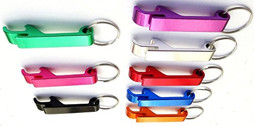 Tool Gadget 8 Pcs Keychain Bottle Opener - Bartender Bottle Opener - Best Aluminum Bottle / Can Opener - Compact, Versatile & Durable - Vibrant Colors - Premium Keyring Bottle Opener