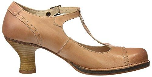 Sandalias con T para Neosens Marrón Mujer Wood S849 a Tira 1E5Tgwq