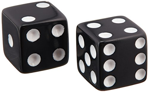 CHH 2500P-BLK Black Dice Recreational Game Equipment Accessory with White Pips ()