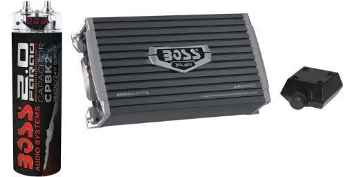 Boss AR3000D 3000W MONOBLOCK D Car Amplifier Amp+Remote+2 Farad Capacitor Cap
