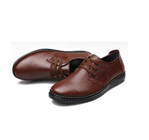 Estate da zmlsc Business Sport Casual Inverno Canvas Ribbon Punta Primavera Scarpe Brown Soft Colore A Uomo Round Autunno Efp7qf