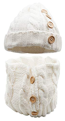 Bienvenu Women's Winter Knit Hat & Infinity Scarf - 2 Pcs Set White One ()