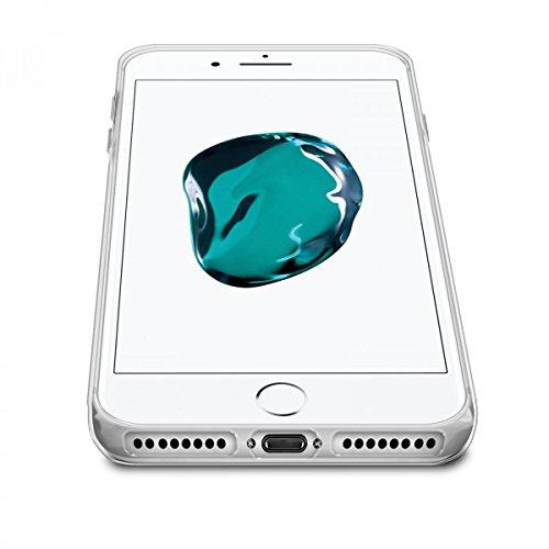 eFabrik Silikon Tasche für Apple iPhone 8 PLUS / Apple iPhone 7 PLUS Case Schutzhülle Handy Schutztasche Cover Hülle Ultra Slim weich Gel TPU transparent
