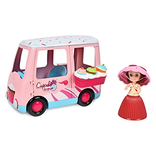 516b2e42f172 Cupcake Surprise Mini Sweet Dreams Van Playset with Bonus Cupcake Mini Doll