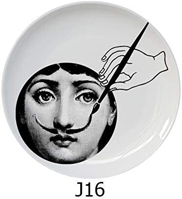 New Top Fashion Milan Piero Fornasetti Plates Color Black/&white Illustration Hanging Dishes Sample Room//home//hotel Decoration J Pattern J24,8 inch