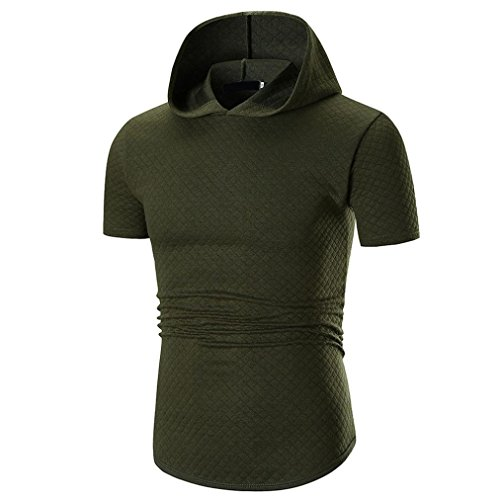(iLXHD Men's Summer Outfit Casual Soft Short Sleeve T Shirt Top Blouse)